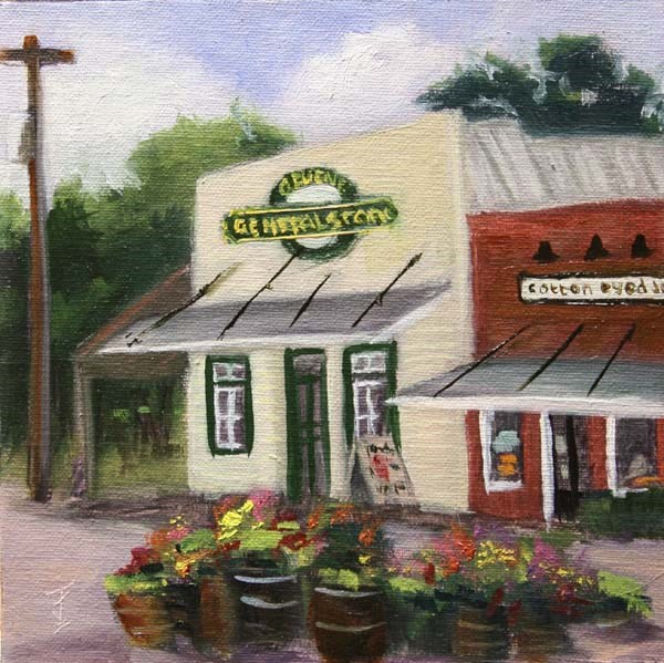 """Gruene General Store"" original fine art by Jane Frederick"