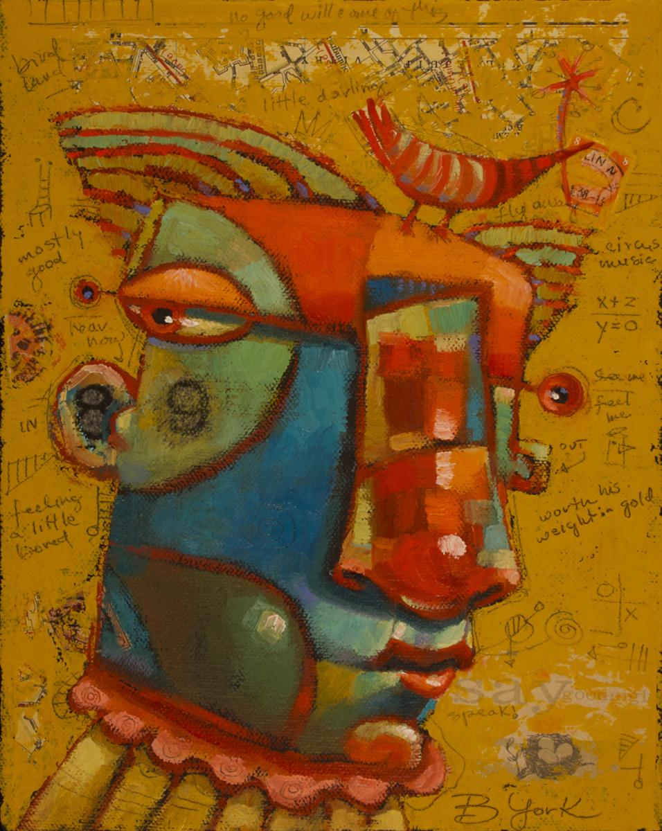 """Bernie Is A Free Range Bird"" original fine art by Brenda York"