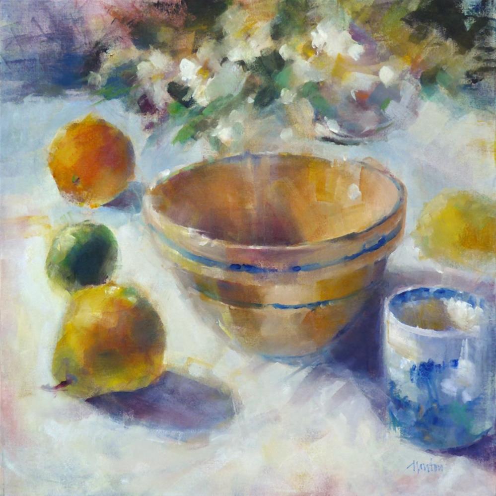 """Brown Bowl"" original fine art by Barbara Benedetti Newton"