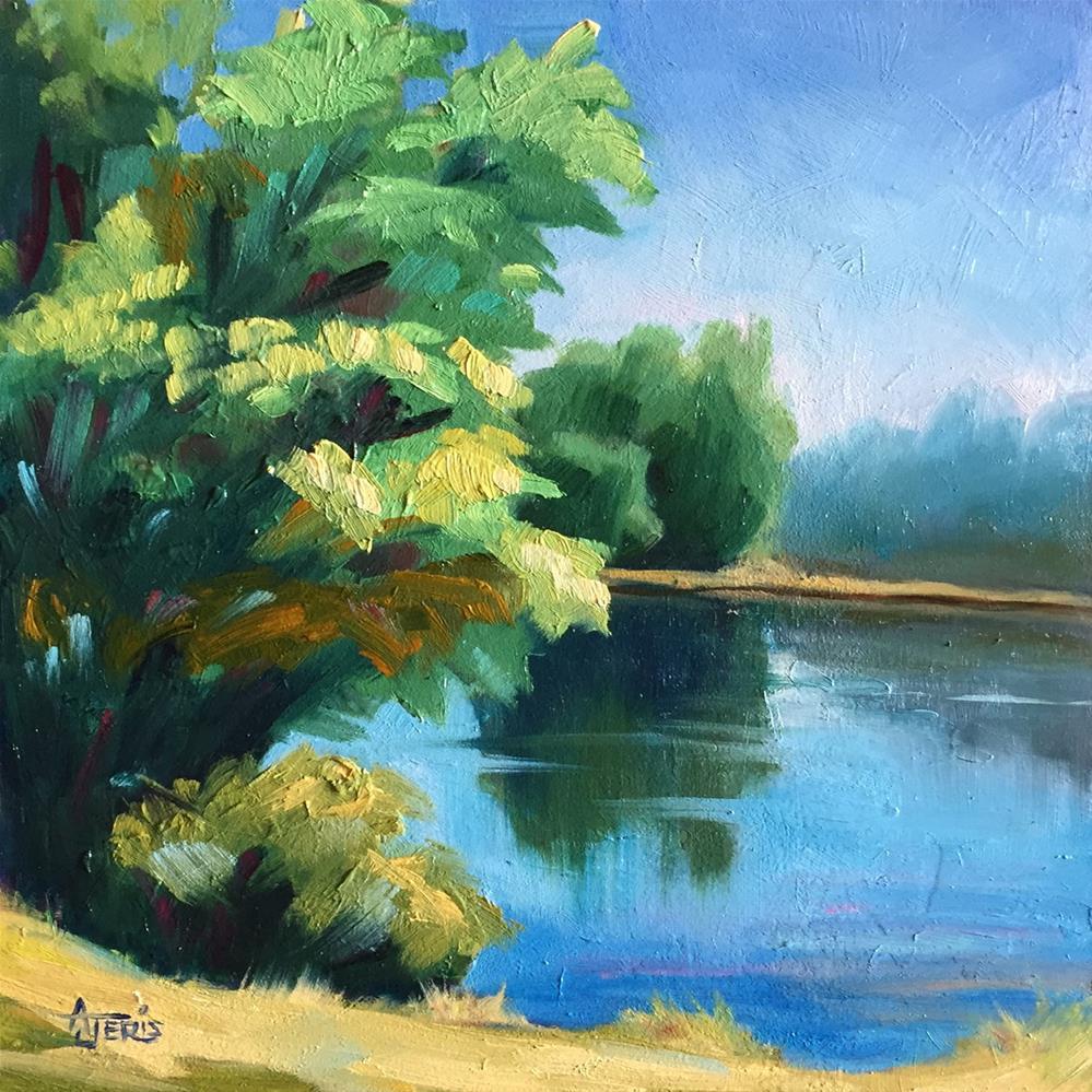 """Sunny Pond"" original fine art by Andrea Jeris"