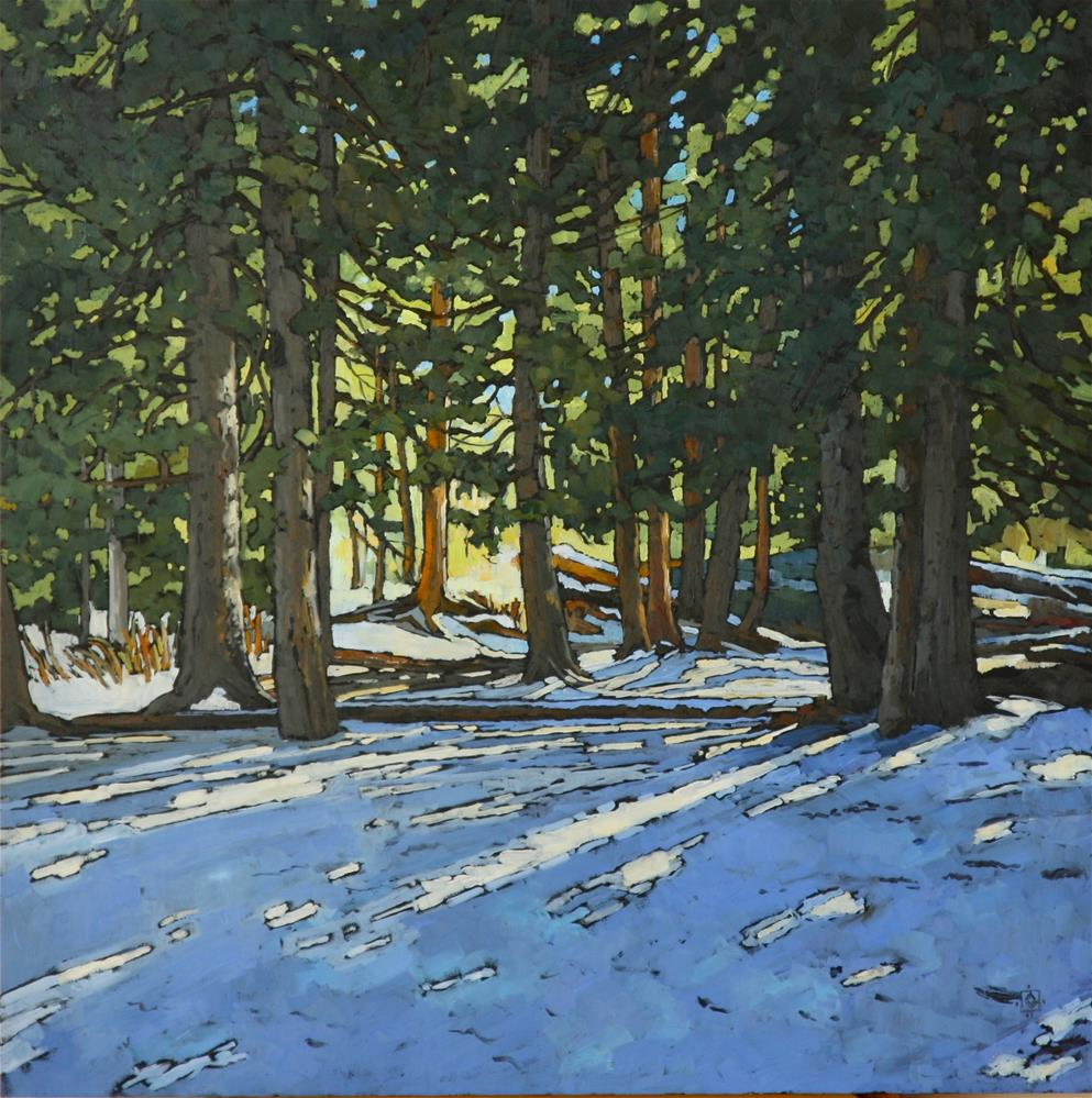 """Winter Glow"" original fine art by Carol Granger"