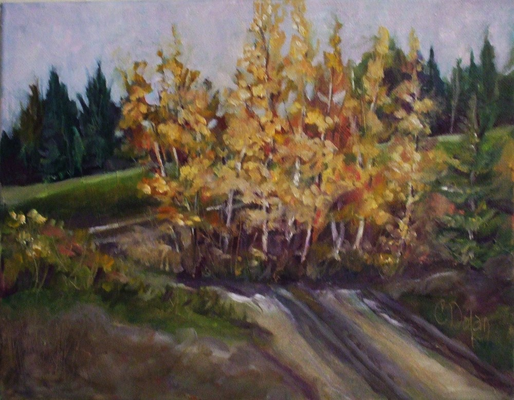 """""""The Lonely Road"""" original fine art by Cheryl Williams Dolan"""