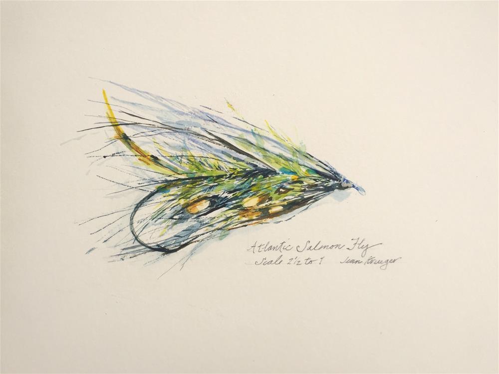"""""""Atlantic Salmon Fly"""" original fine art by Jean Krueger"""
