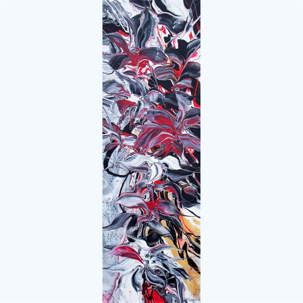 """Flowers Reflection IV"" original fine art by Khrystyna Kozyuk"