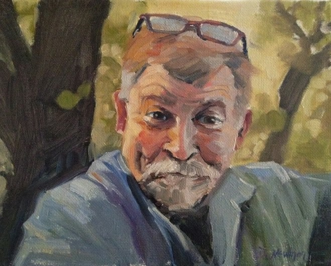 """Dennis"" original fine art by Deborah Newman"
