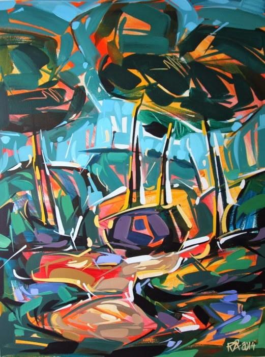 """Forest Exploration 18"" original fine art by Roger Akesson"