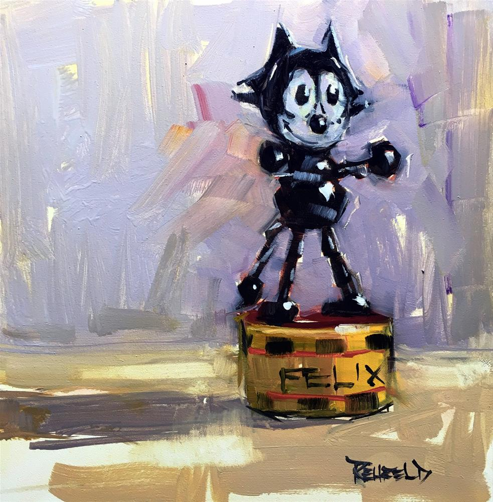 """Felix"" original fine art by Cathleen Rehfeld"
