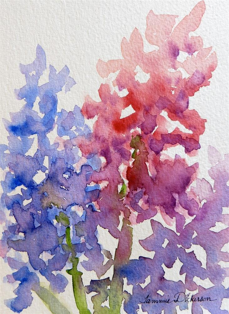 """""""Hyacinth in Pink and Blue"""" original fine art by Tammie Dickerson"""