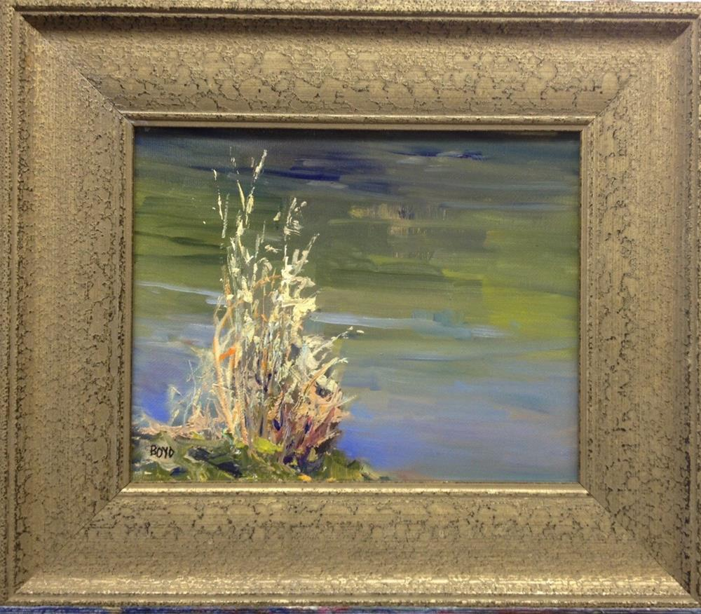 """Down By The River"" original fine art by Cathy Boyd"