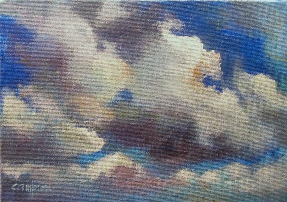 """""""217 Cumulus"""" original fine art by Diane Campion"""