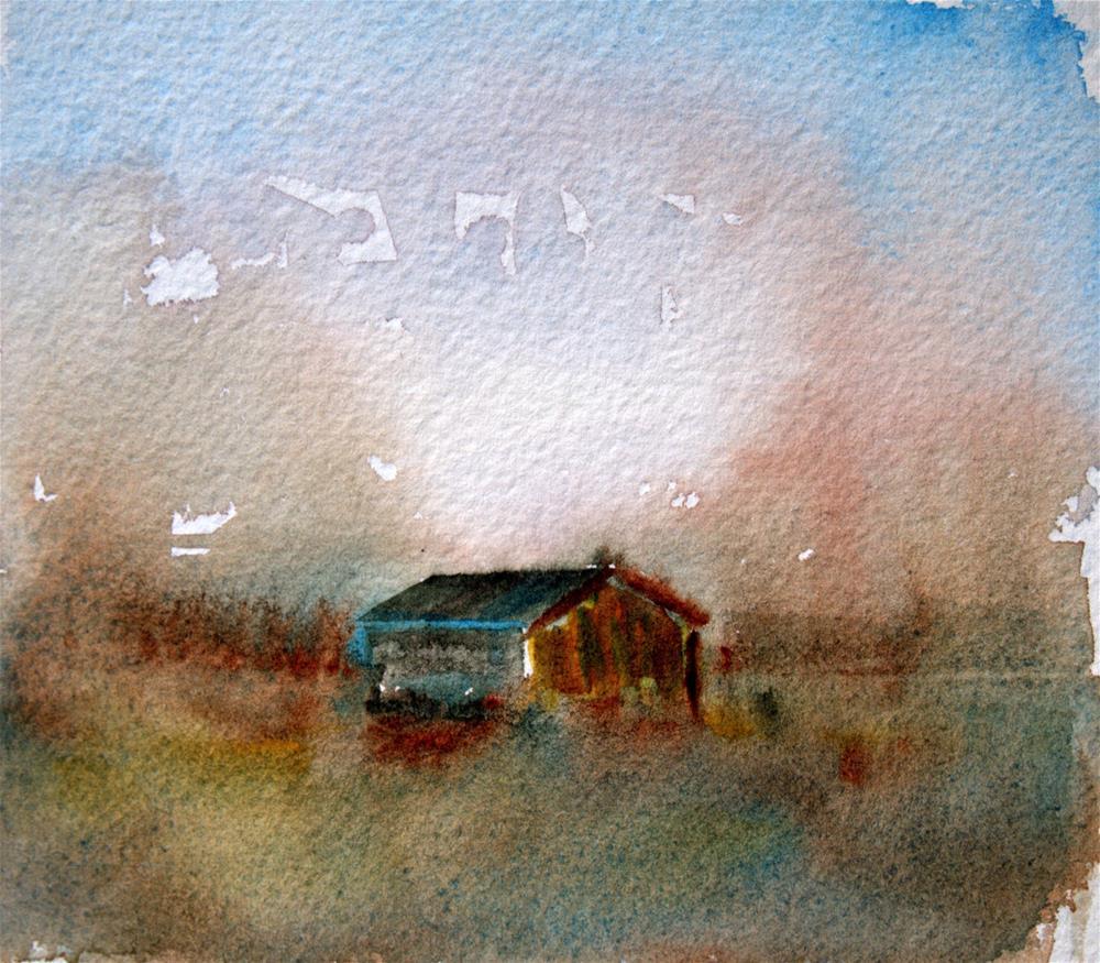 """""""Blue Barn"""" original fine art by Amy Bryce"""