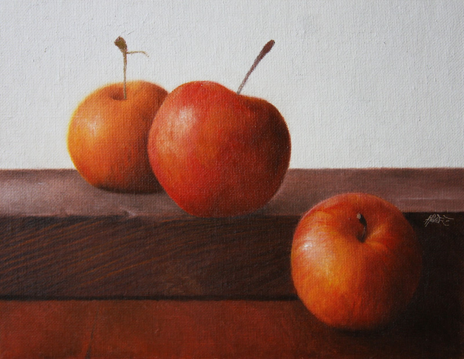 """Crab Apples III"" original fine art by Jonathan Aller"
