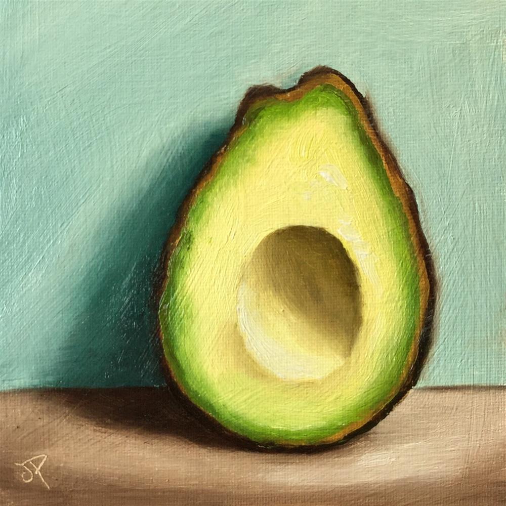 """Avocado the other half"" original fine art by Jane Palmer"