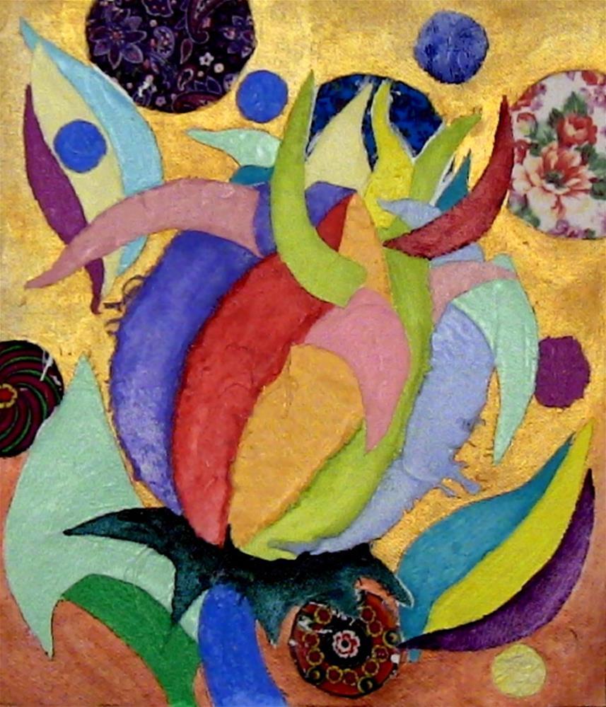 """Flower Budding"" original fine art by Lisa Fulton"