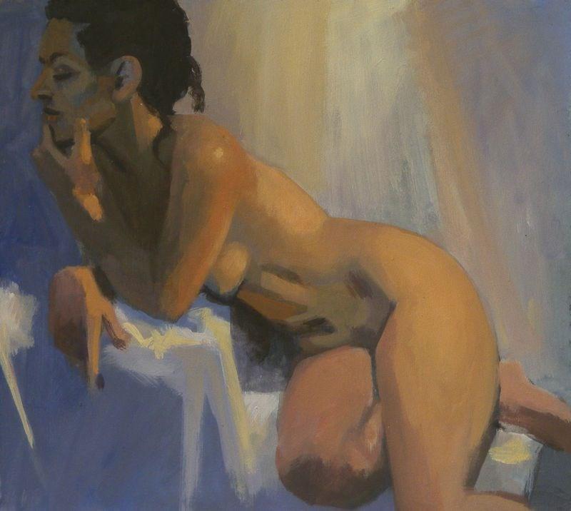 """Pensive"" original fine art by Peter Orrock"