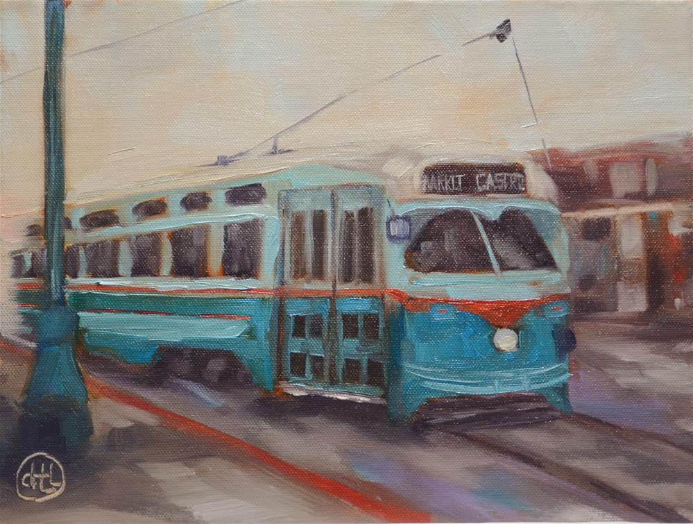 """singing the streetcar blues"" original fine art by Dottie  T  Leatherwood"
