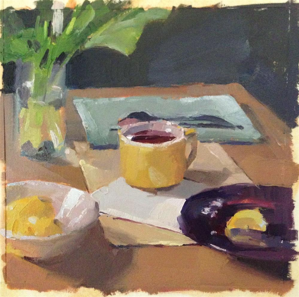 """""""Sketch for 'The Yellow Teacup'"""" original fine art by Sarah Sedwick"""