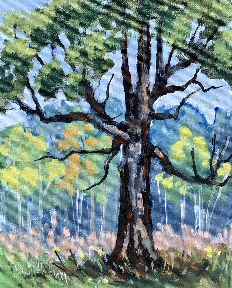 """""""Sale Painting Water Oak"""" original fine art by Linda Blondheim"""