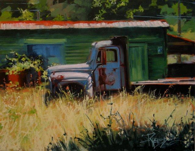 """""""Last Load  oil landscape"""" original fine art by Robin Weiss"""