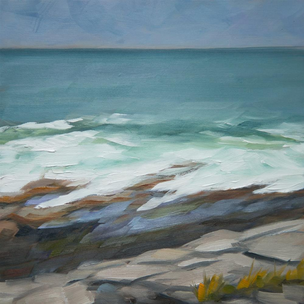 """""""#16 - Outgoing Tide - Two Lights State Park, ME"""" original fine art by Sara Gray"""