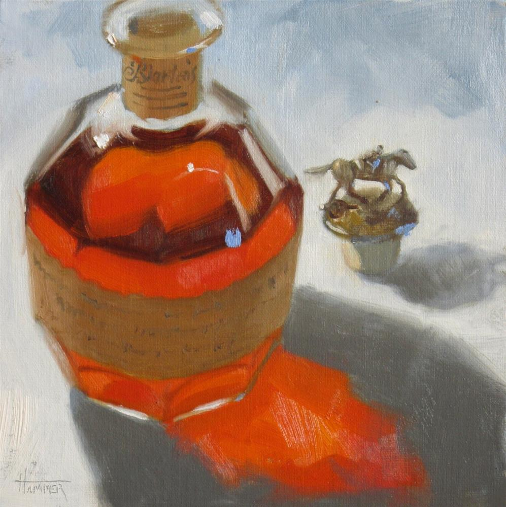 """Blanton's #17   8 x 8  oil"" original fine art by Claudia Hammer"