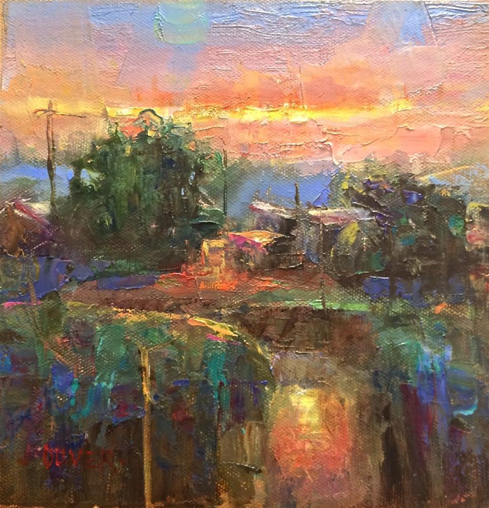 """""""Sunset Reflections"""" original fine art by Julie Ford Oliver"""