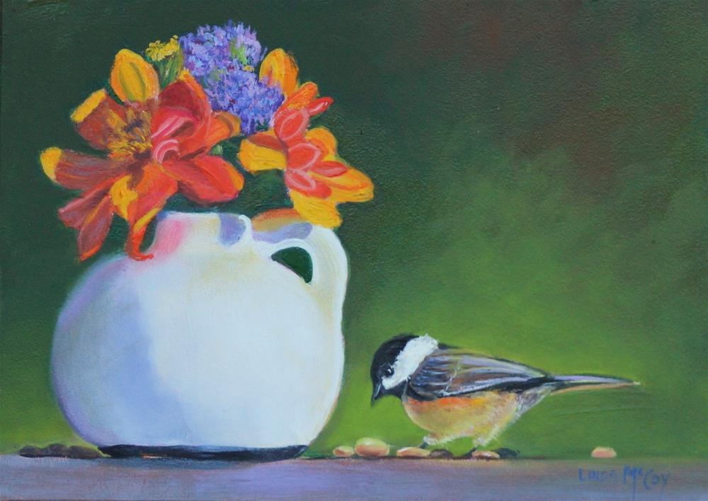 """The Last Dahlia's"" original fine art by Linda McCoy"
