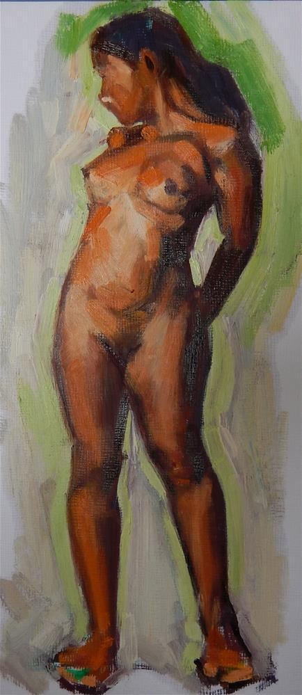 """""""Girl Standing"""" original fine art by Megan Schembre"""
