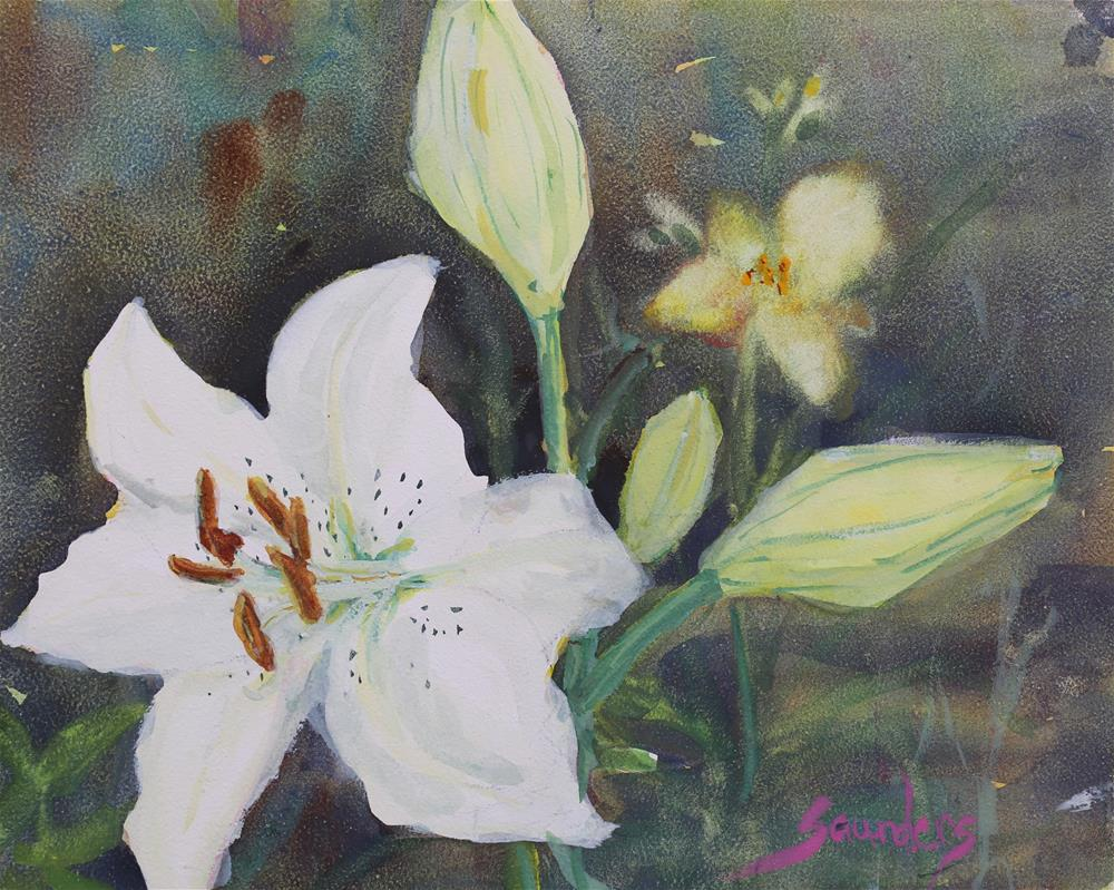 """""""Lilly Blossom"""" original fine art by Michael Saunders"""