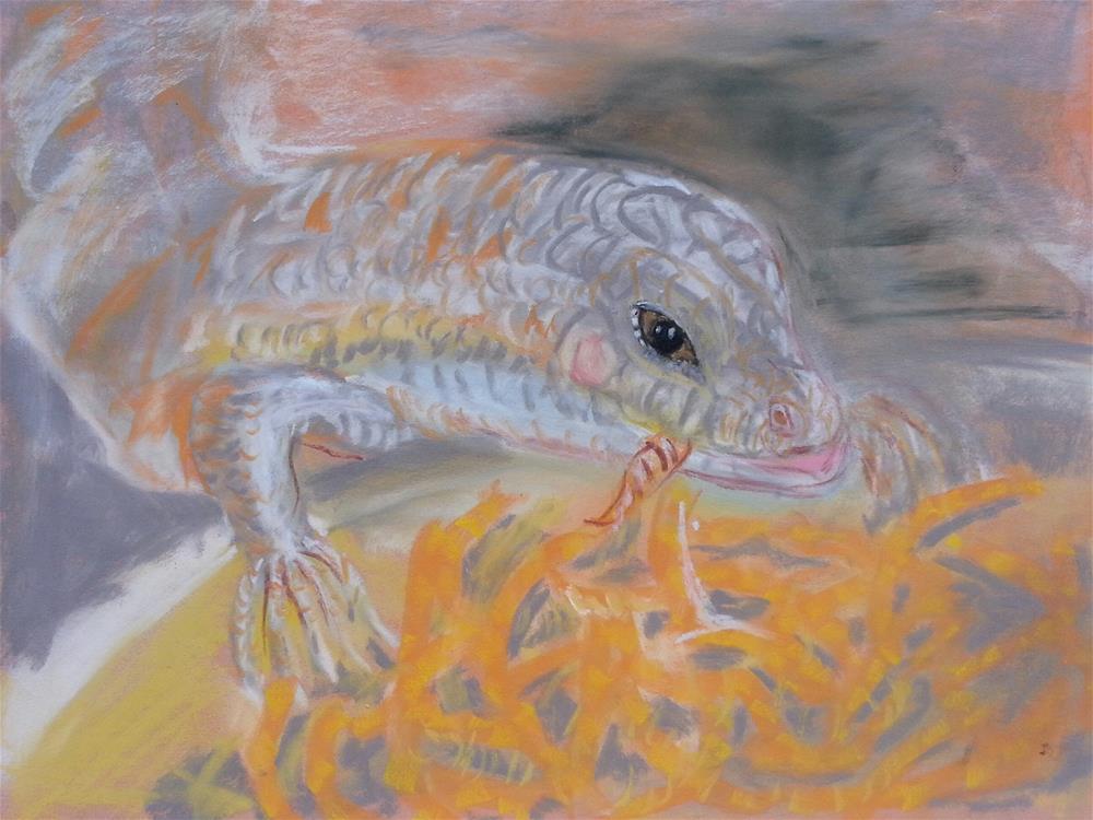 """Lizards Deserve Love Too"" original fine art by Phyllisha Hamrick"