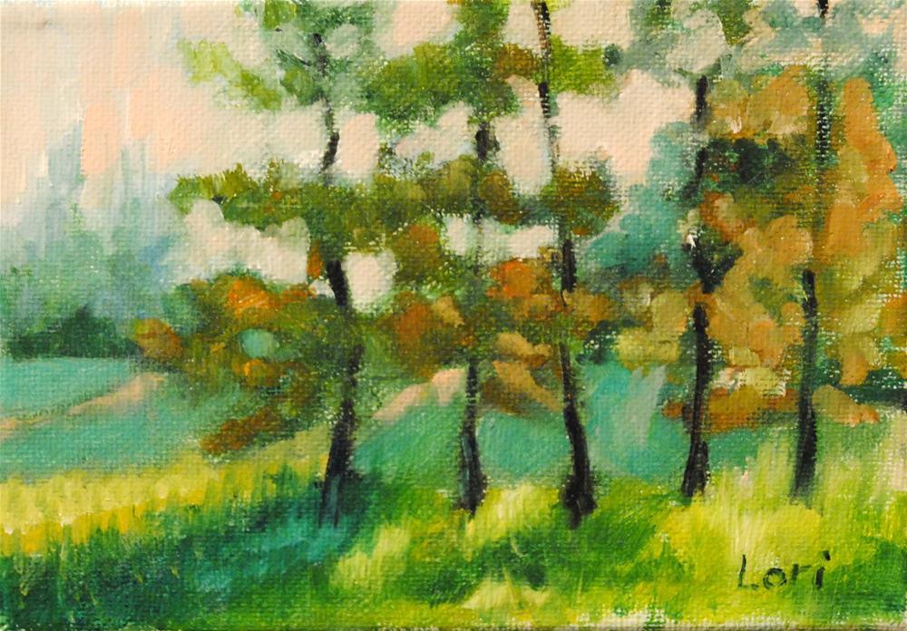 """""""Ny Landscape #9"""" original fine art by Lori Jacobs - Farist"""
