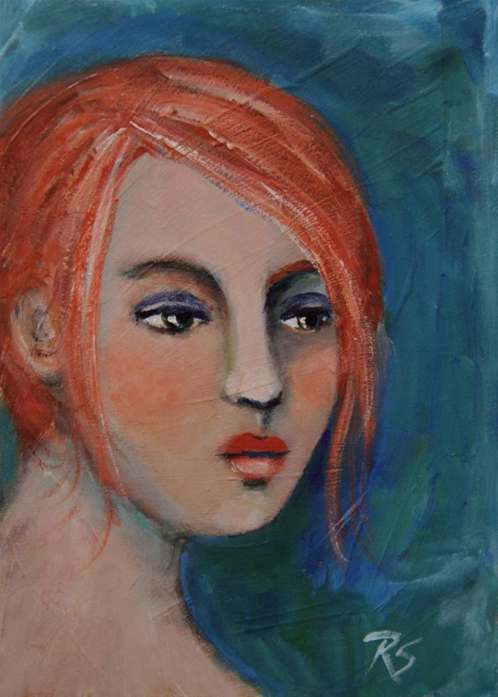 """""""Brianna"""" original fine art by Roberta Schmidt ArtcyLucy"""