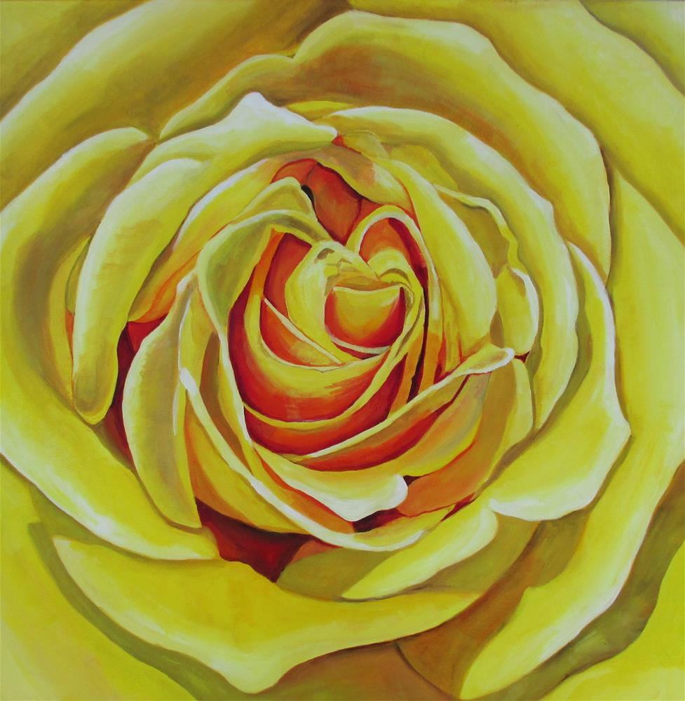"""Large Yellow Rose Study"" original fine art by Lisa Wiertel"