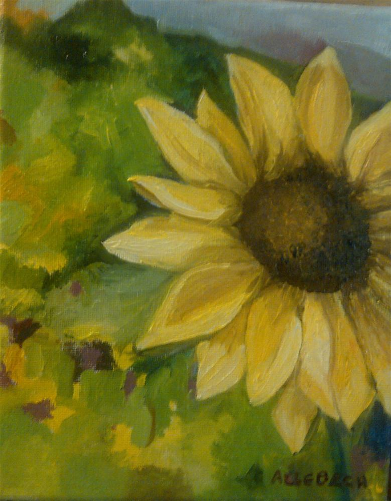 """hillside sunflower"" original fine art by Jo Allebach"