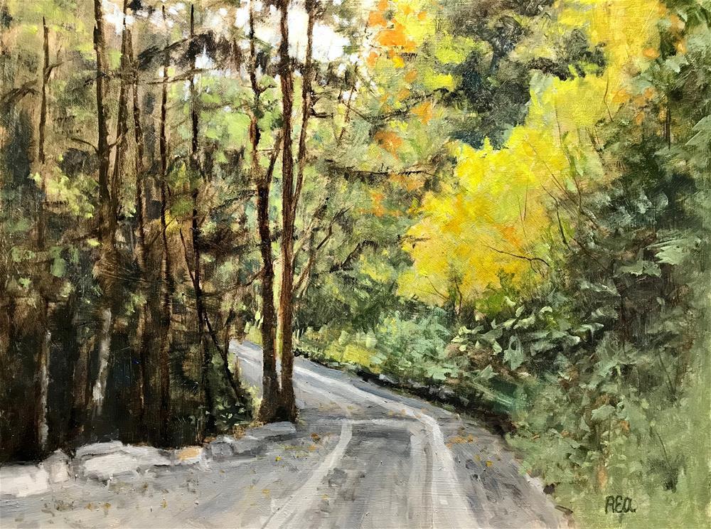 """Down the road"" original fine art by Betty Argiros"