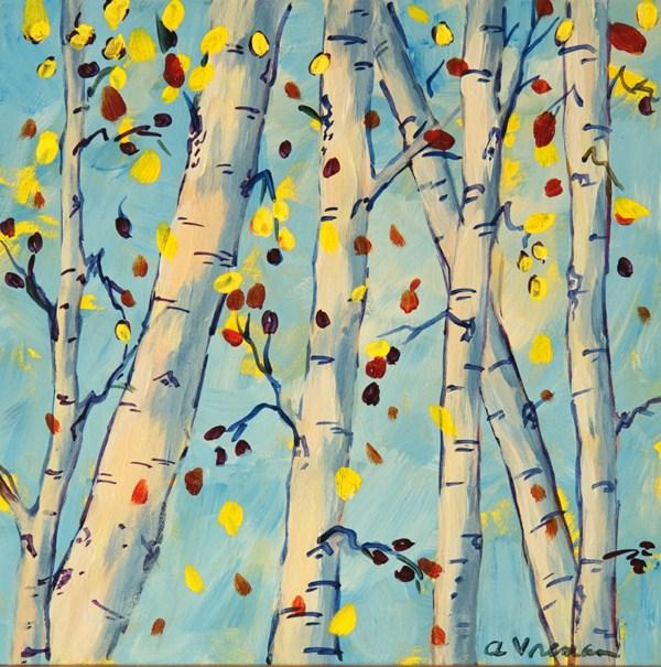 """Falling Leaves"" original fine art by Anna Vreman"