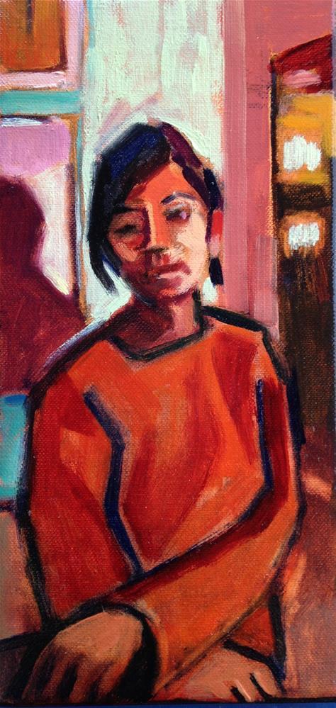 """Red Girl"" original fine art by Pamela Hoffmeister"