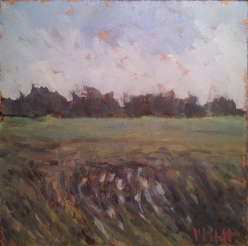 """Wet Field Summer Wheat Original Daily Oil Painting"" original fine art by Heidi Malott"