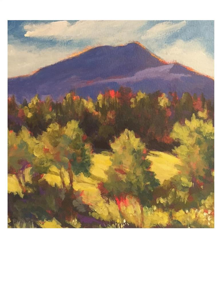 """Burke Mountain 2"" original fine art by Suzanne Woodward"