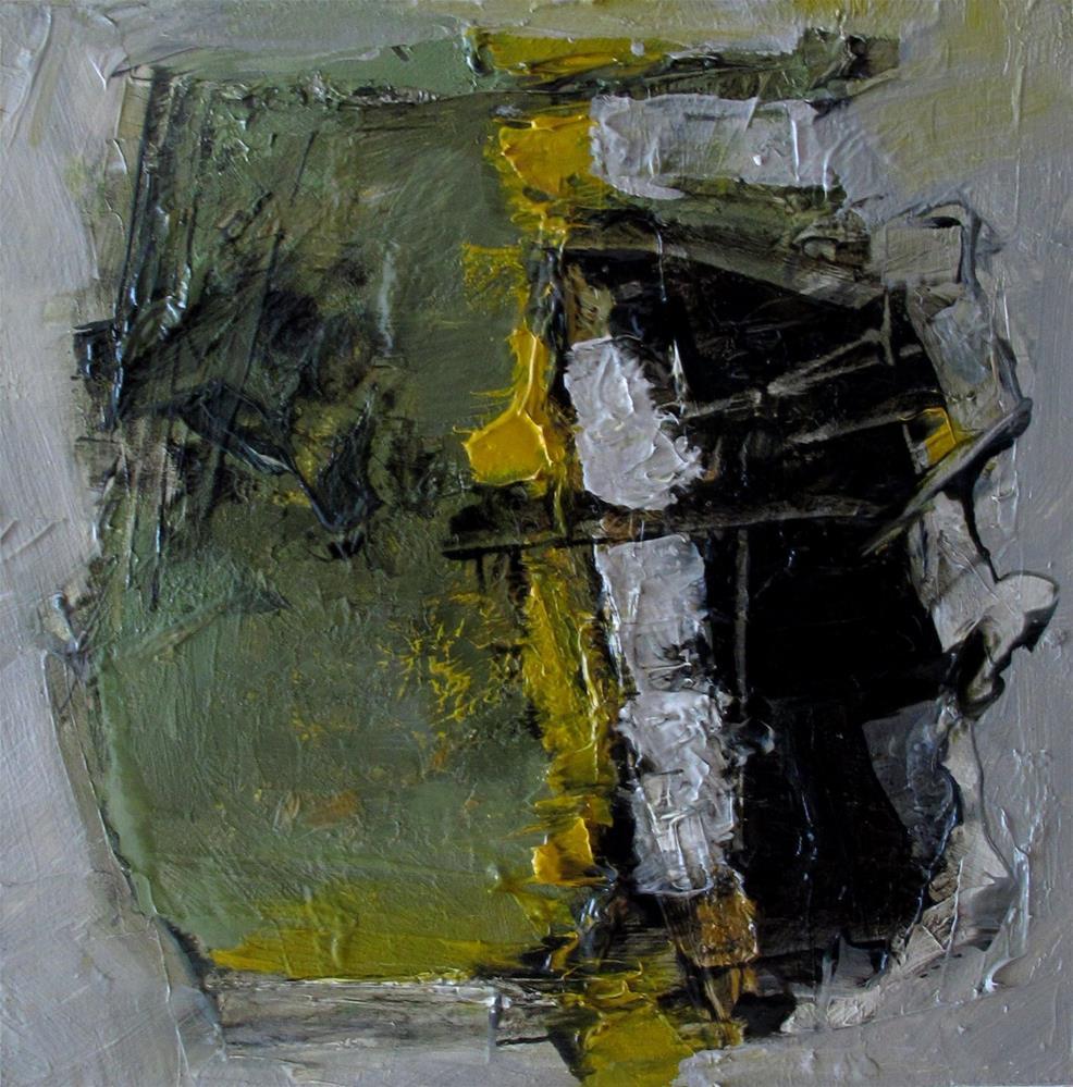 """""""A SCULPTURE GARDEN Original Abstract 4X4 Painting OIL"""" original fine art by Colette Davis"""