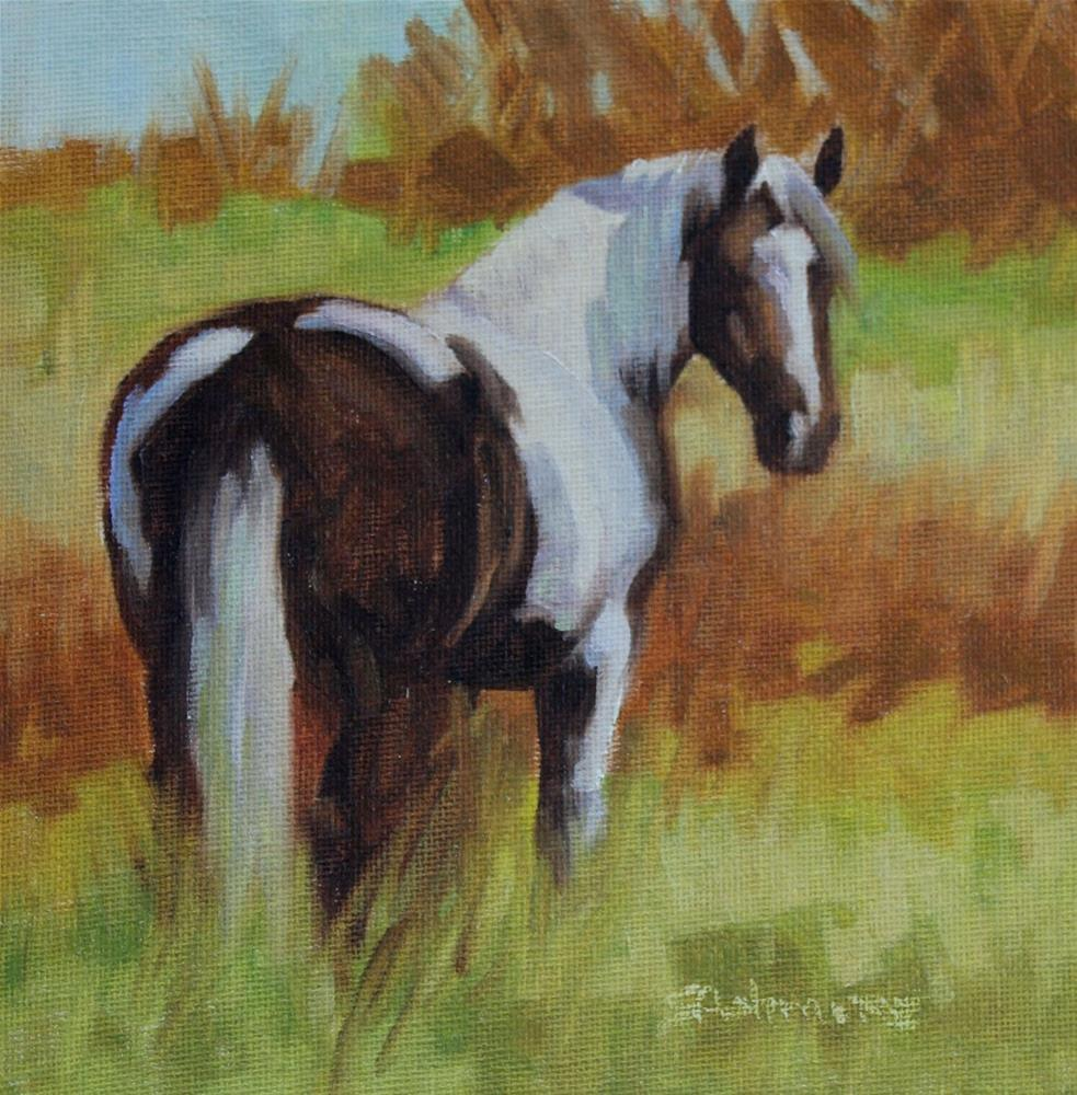 """''Painted Pastures''"" original fine art by Susan Ashmore"