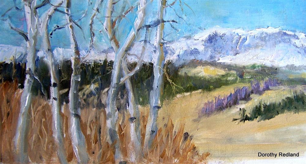 """A view of Circle park"" original fine art by Dorothy Redland"