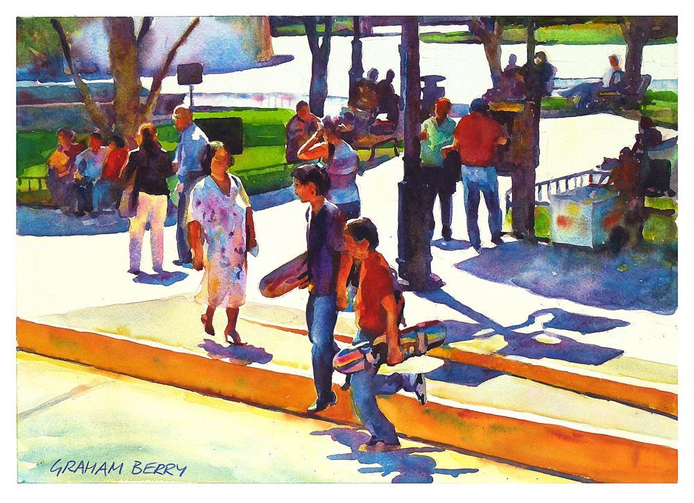 """""""Park life."""" original fine art by Graham Berry"""