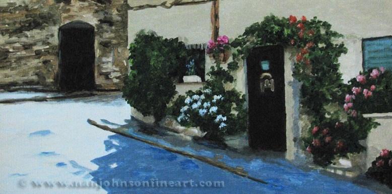 """""""Traverse de la Tour"""" original fine art by Nan Johnson"""