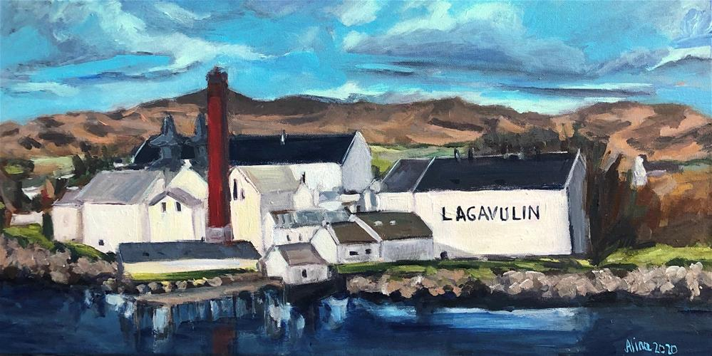 """""""Lagavulin Distillery2"""" original fine art by Alina Vidulescu"""