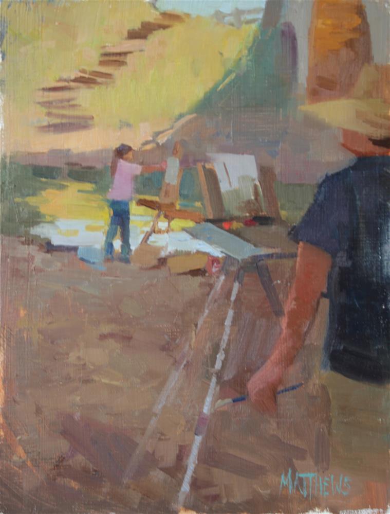 """Painted Painters"" original fine art by Kristian Matthews"