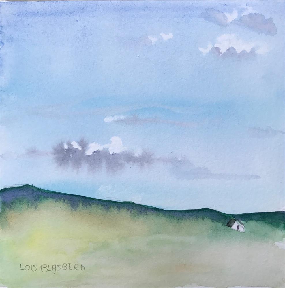 """Summer Skies Over Grassy Fields"" original fine art by Lois Blasberg"