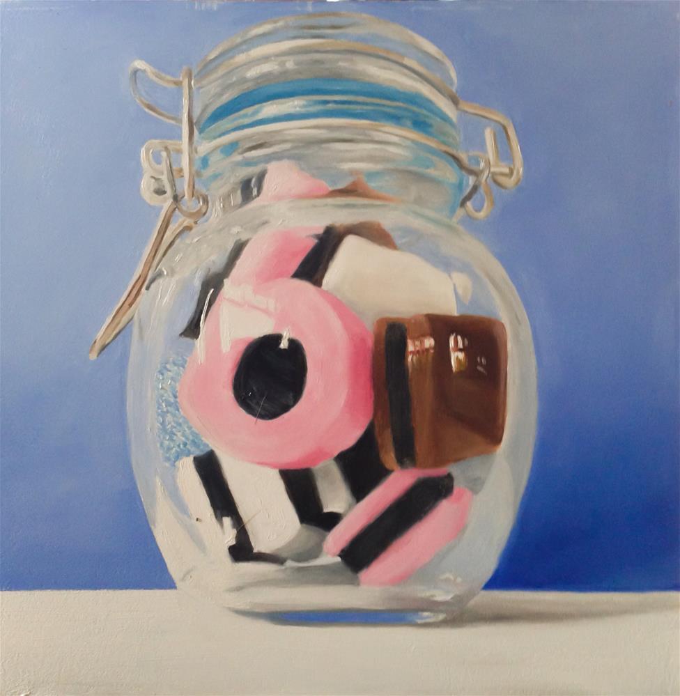 """Allsorts in a Jar"" original fine art by James Coates"