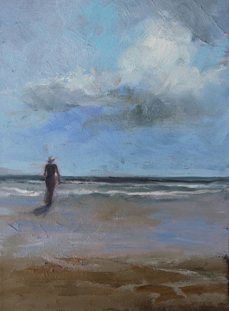 """""""Solitude, Beach and Ocean Paintings by Amy Whitehouse"""" original fine art by Amy Whitehouse"""