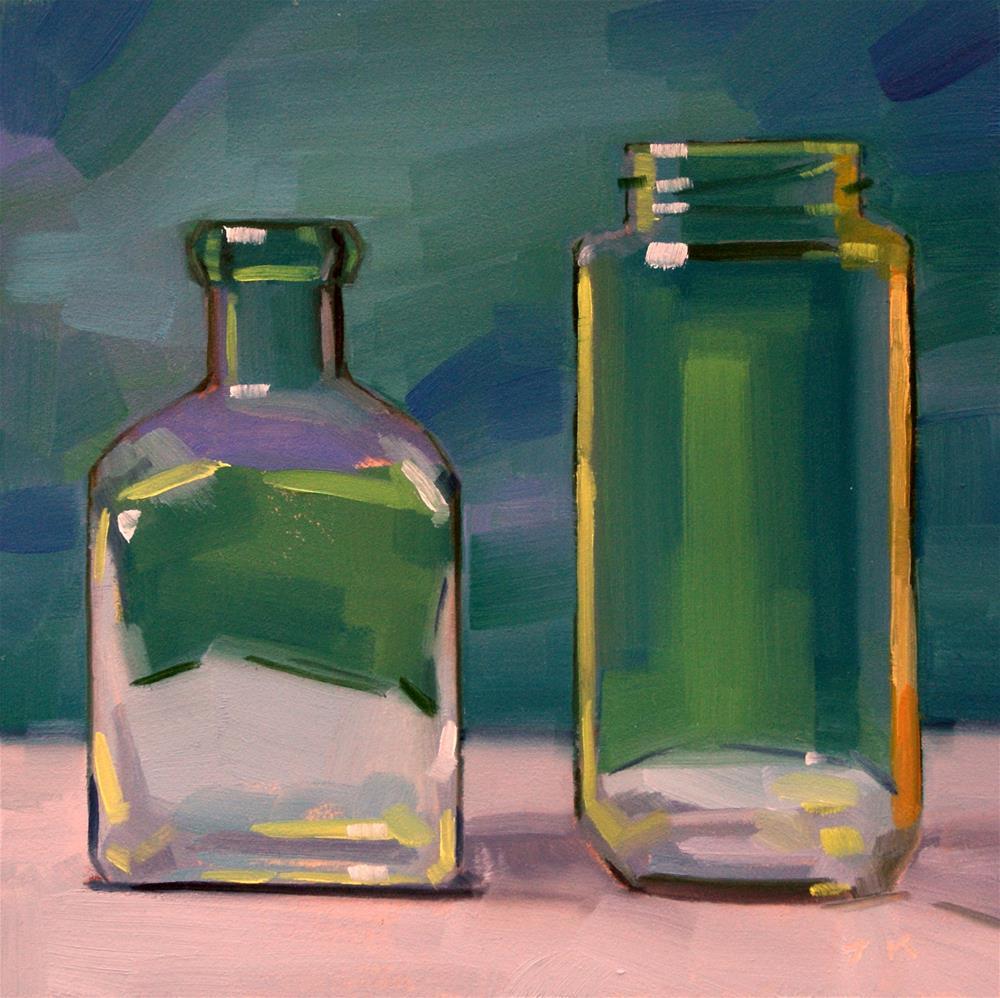 """Duo in Blue"" original fine art by Jiyoung Kim"